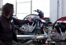 A Visit Inside Keanu Reeves Motorcycle Shop