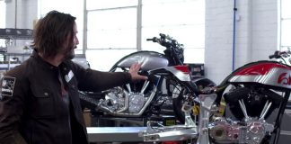 A Visit Inside Keanu Reeves Motorcycle Shop