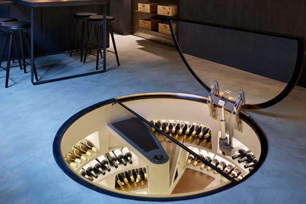 Spiral Celluar Wine Storage