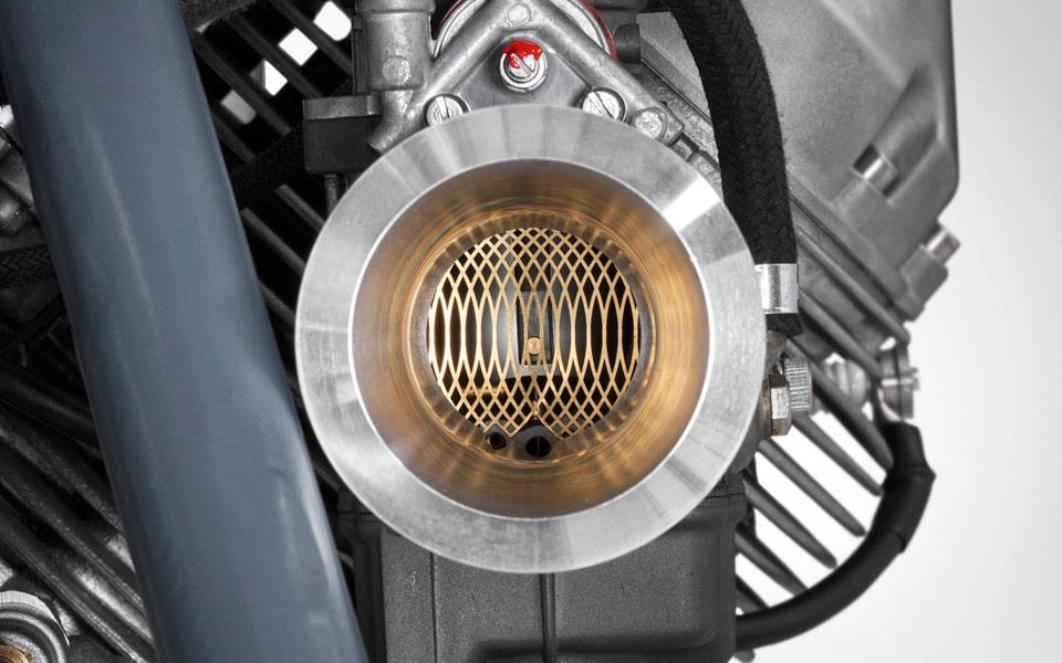Death Machines of London modified 36mm pumper Dell'Orto carburettors