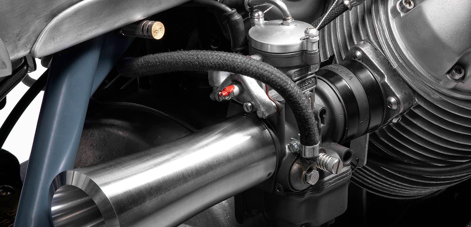 modified 36mm pumper Dell'Orto carburettors