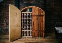 Handcrafted exclusive wine storage