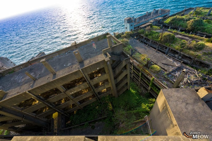 Drone view of the abandoned place
