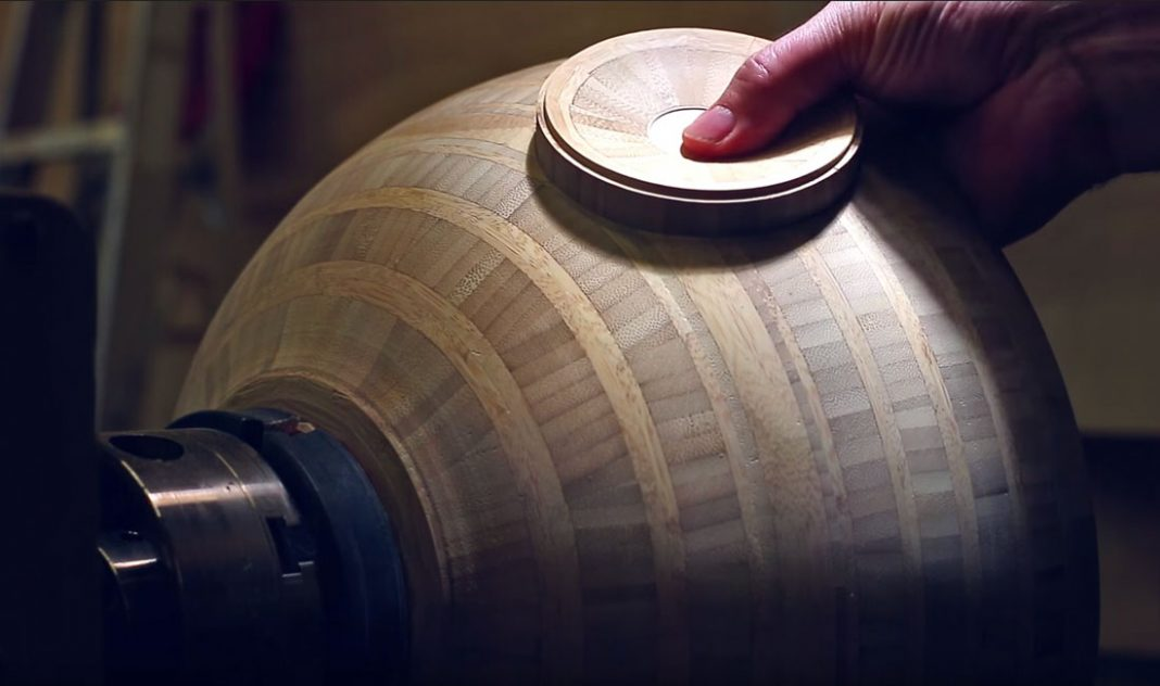 Wood turned Death Star