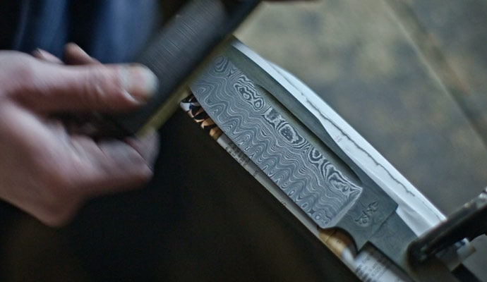 The Birth Of A Weapon Damascus Bowie Knife