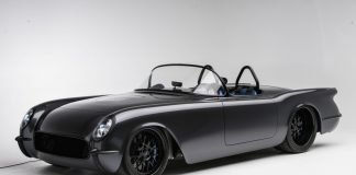 Death Star 1954 Corvette Convertible by Timeless Kustoms