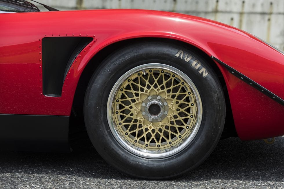 new parts includedbrakes from a Porsche 917, Koni suspension components, massive three-piece BBS wheels