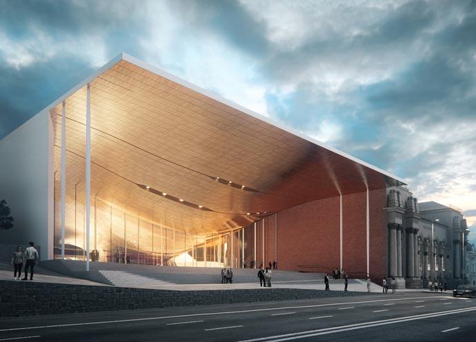 Entrance by Zaha Hadid Architects