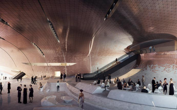 3d rendering by Zaha Hadid Architects