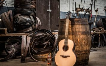 Limited Edition Lowden Guitar made from materials used for whiskey distilling