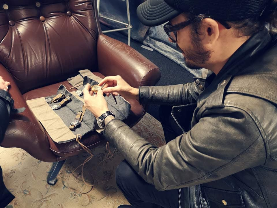 David shows a part of his personal collection of vintage timepieces together with the Nezumi watches