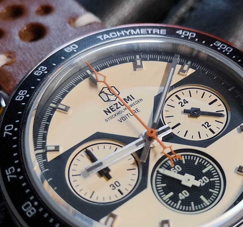 Racing inspired chronograph shows an uncompromising attention to detail