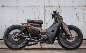 The Honda Super Cub 'K-storm' design by K-Speed