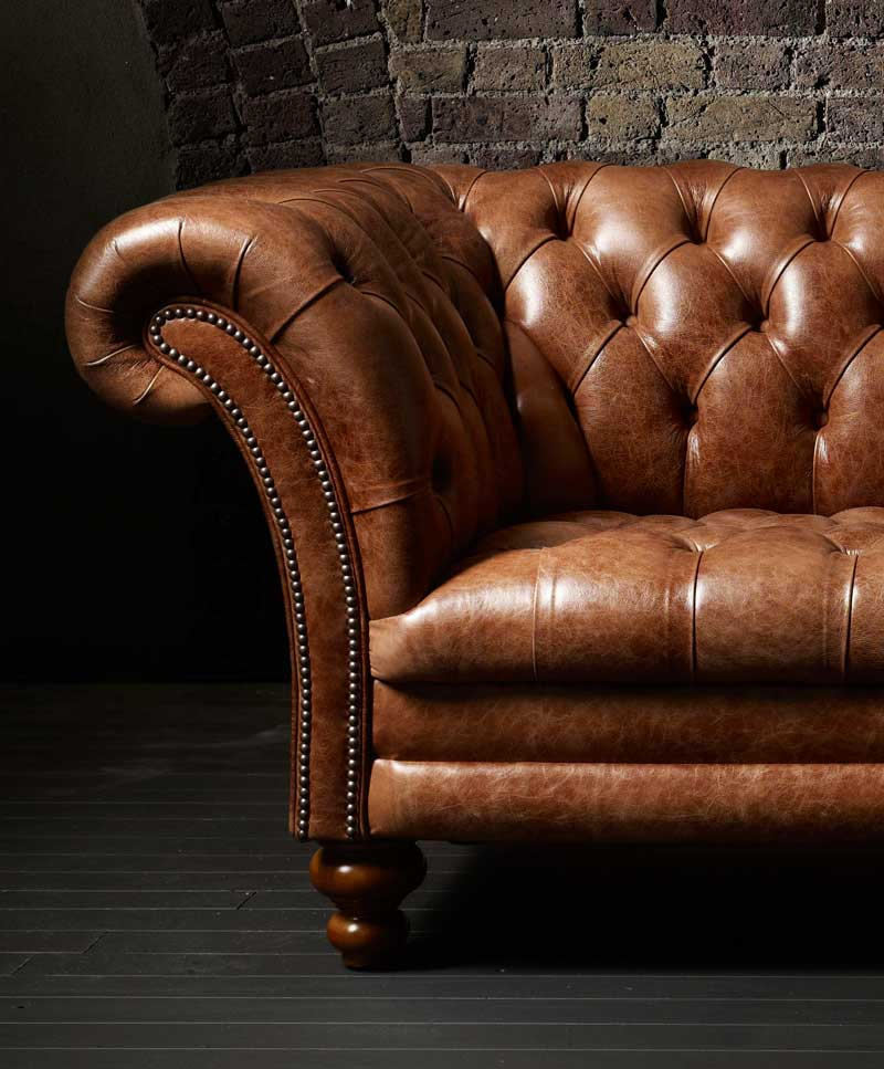 The Kingston Classic Chesterfield Sofa by Fleming & Howland