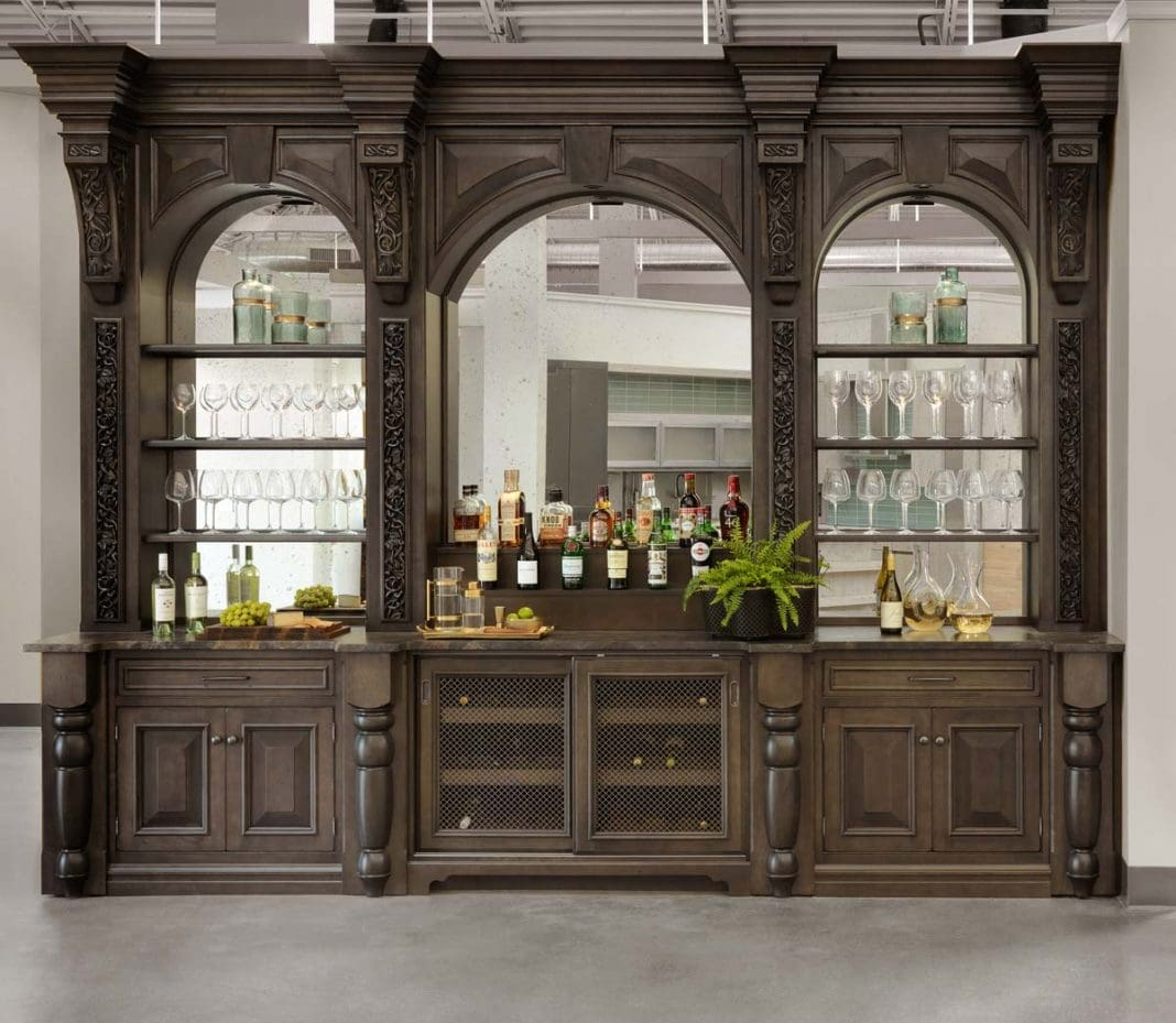 Handcrafted home bar out of the ordinary