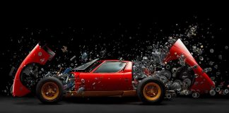 Lamborghini Miura taken apart