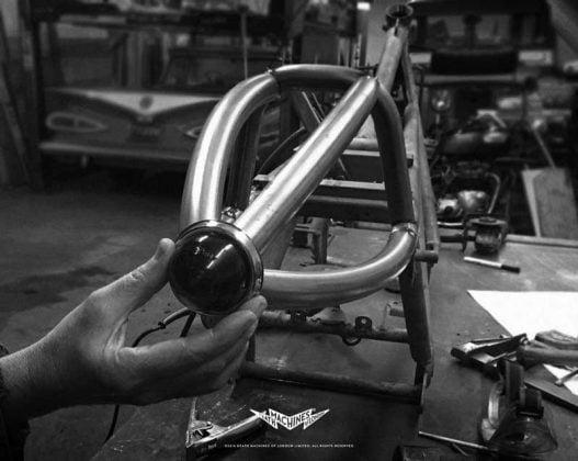 Moto Guzzi custom bike named Airtail for a reason
