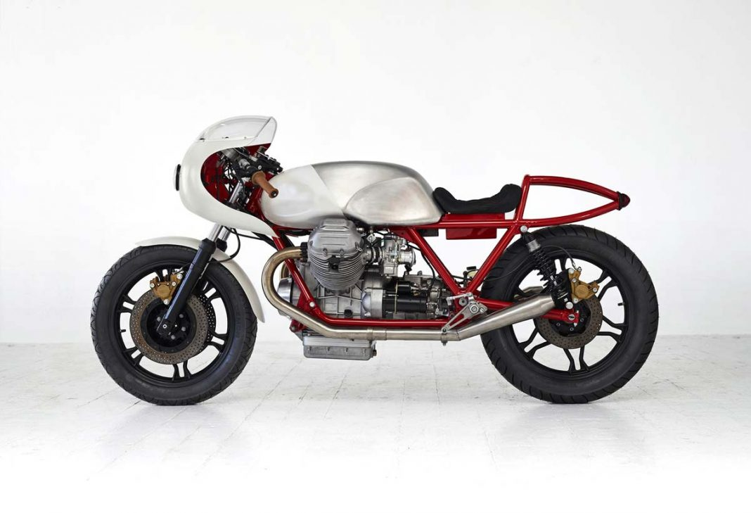 Moto Guzzi custom bike named Airtail for a reason