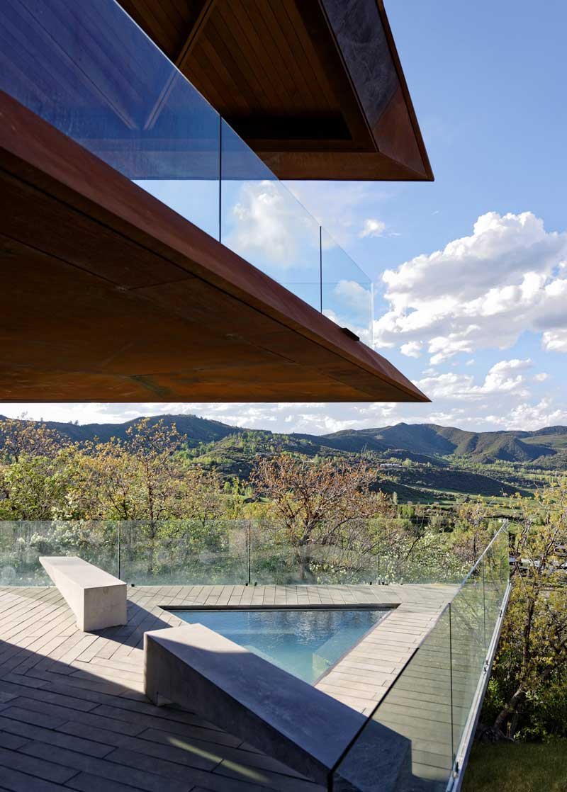 Panoramic views of Snowmass Mountain from the Owl Creek residence