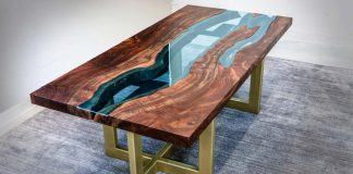 The live edge river table by John Malecki