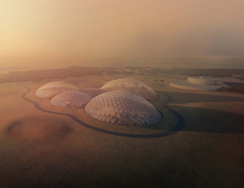 The Mars Science City by Bjarke Ingels Group