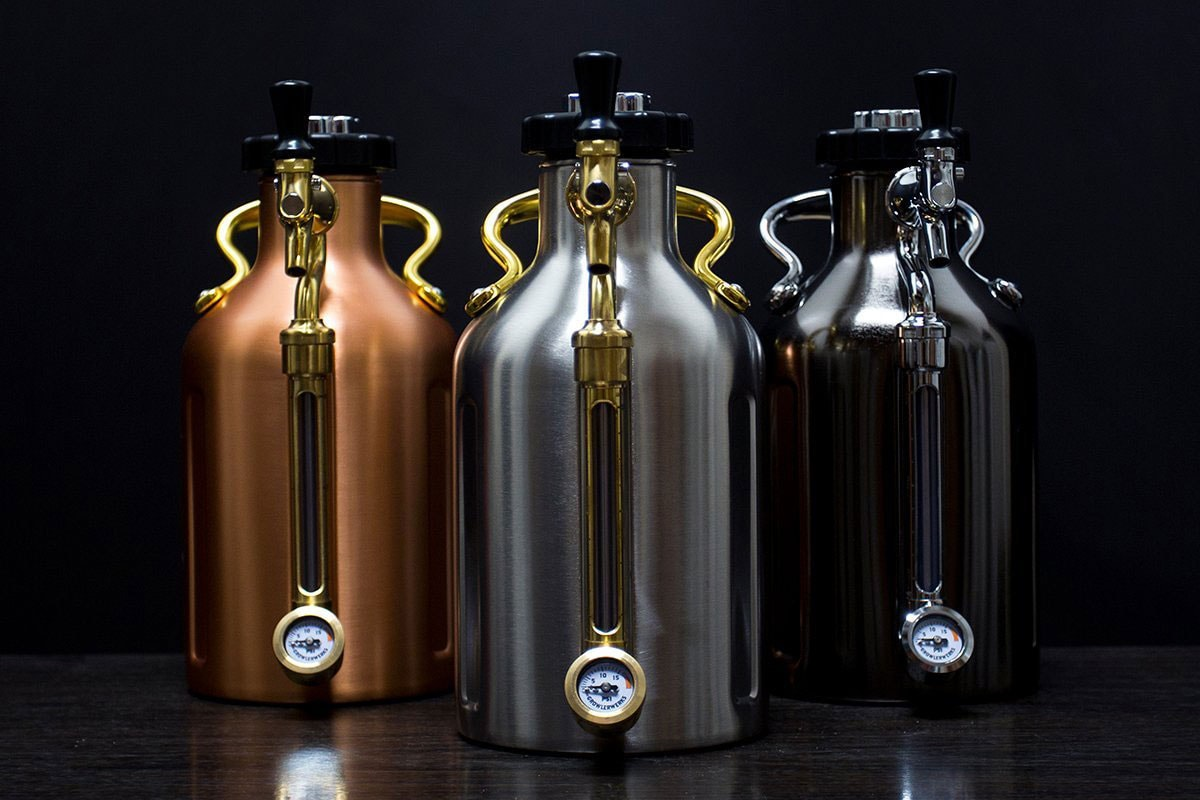 Copper growler for fresh tap brew