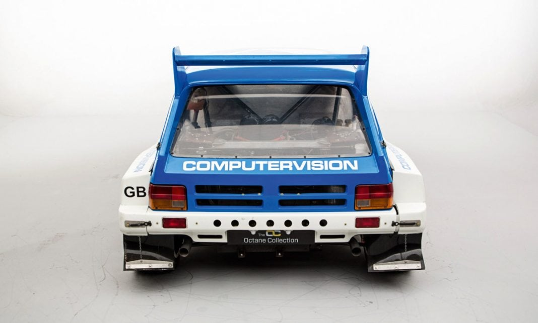 MG Metro 6R4 from the rear