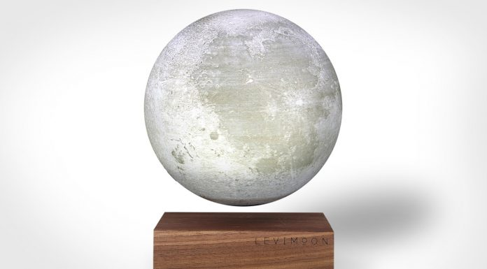 The world's first levitating moon light
