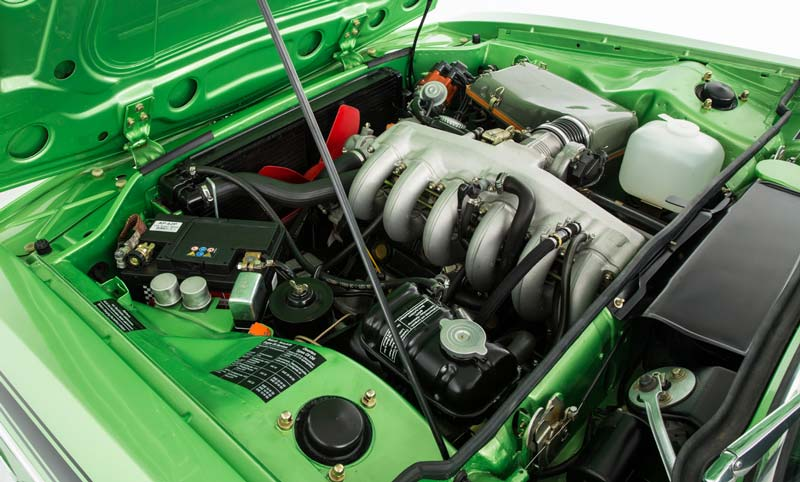 Engine bay from the classic CSL model