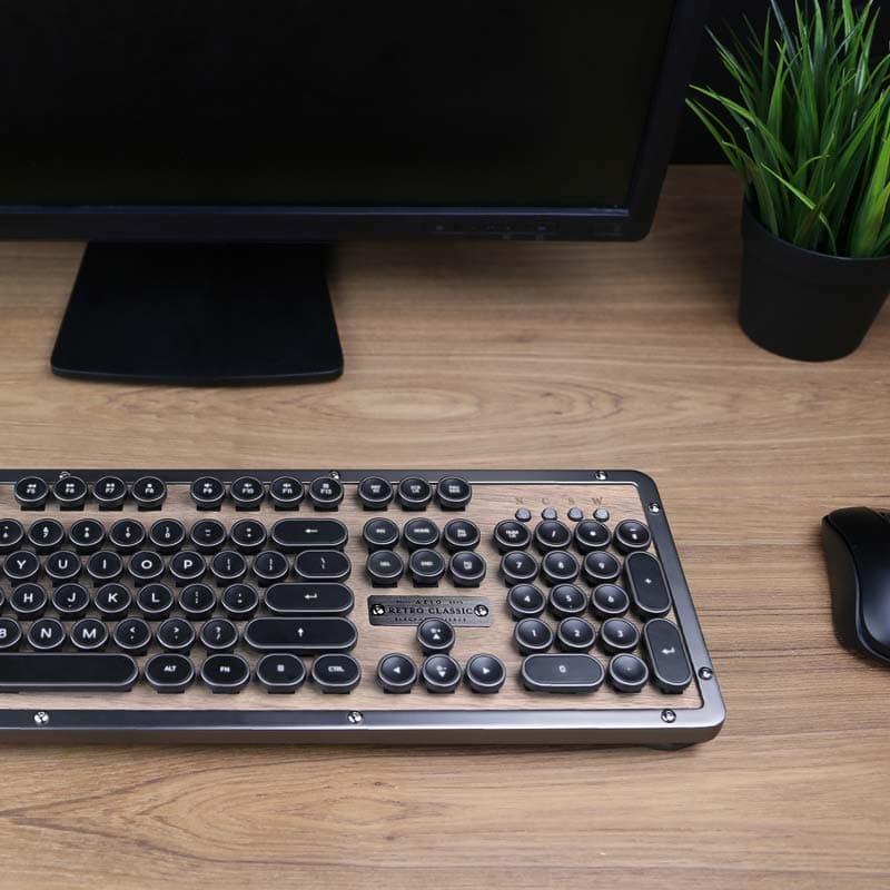 Retro Classic tastatur i træ