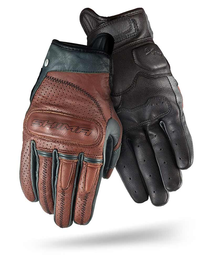 Motorcycle gloves by SHIMA:vintage style