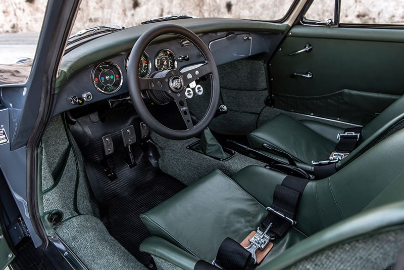 green leather coachwork