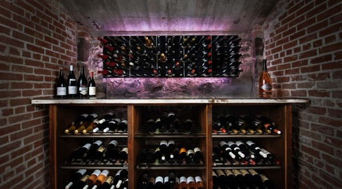 Hand-built wine cave in historic mansion