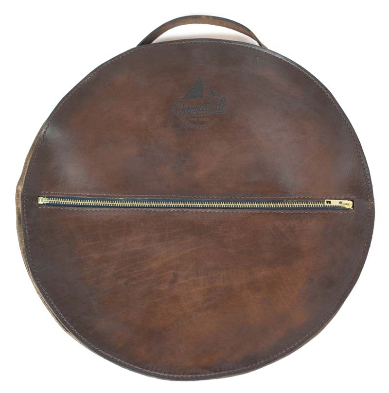 Leather jumper cable bag by the Sturdy Brothers