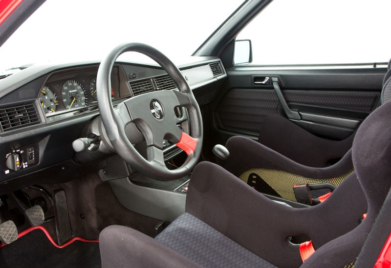 interior and a special speedometer calibrated to 300 km/h
