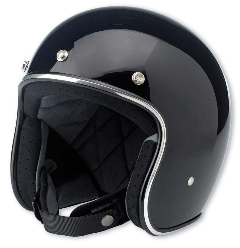 Bitwell Inc. Bonanza: glossy or mat black open face helmet