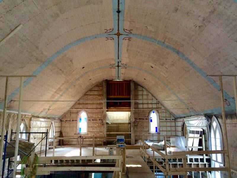 Church under renovation for family living