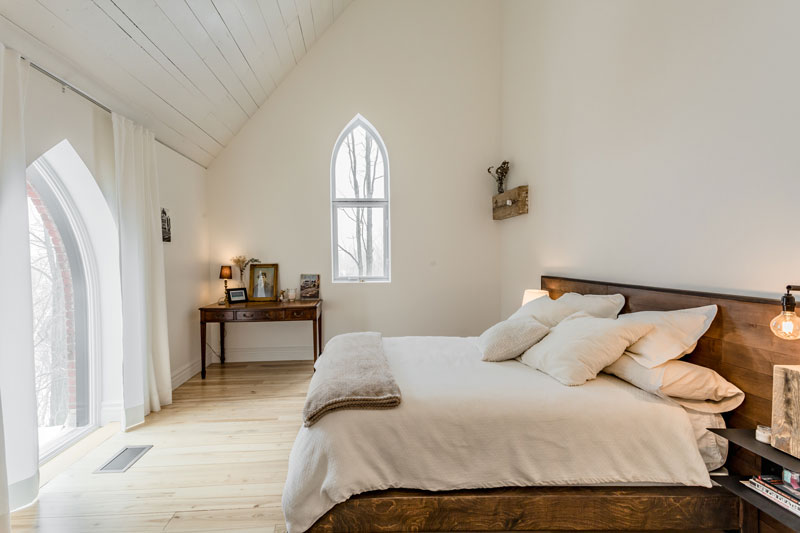 Renovating a church into two family homes