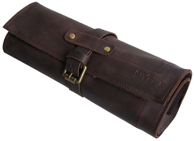 QYHQ Leather Watch Roll in leather