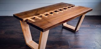 Live Edge Zipper table by John Malecki