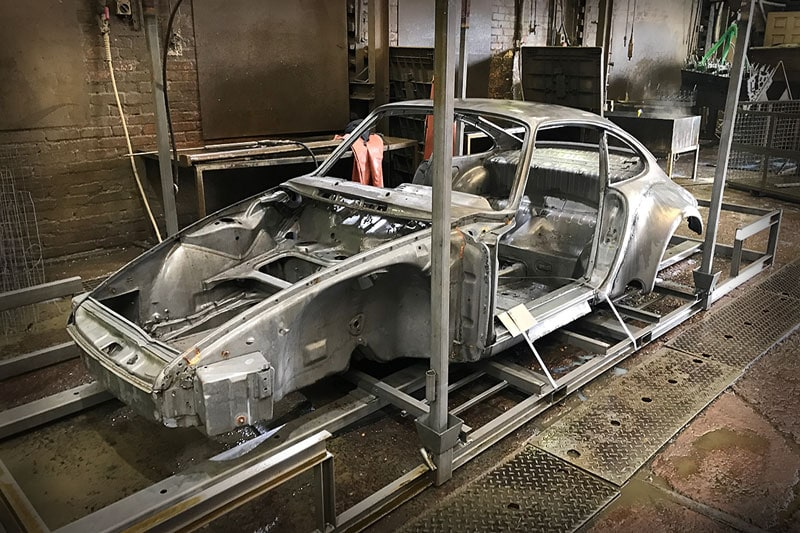 The bodywork and shell are treated and primed to prevent rust and all components are finished in the exact original standard