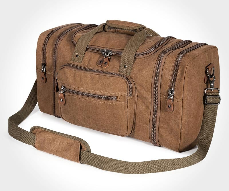 Top-10 vintage-style duffel bags for men - Plambag X-large canvas duffel bag