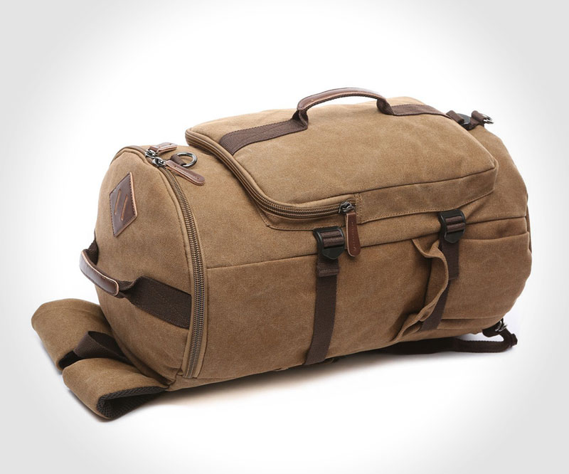 Top-10 vintage-style duffel bags for men - BAOSHA HB-26 canvas duffel bag