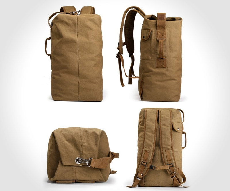 XINCADA Classic military-style duffel bag
