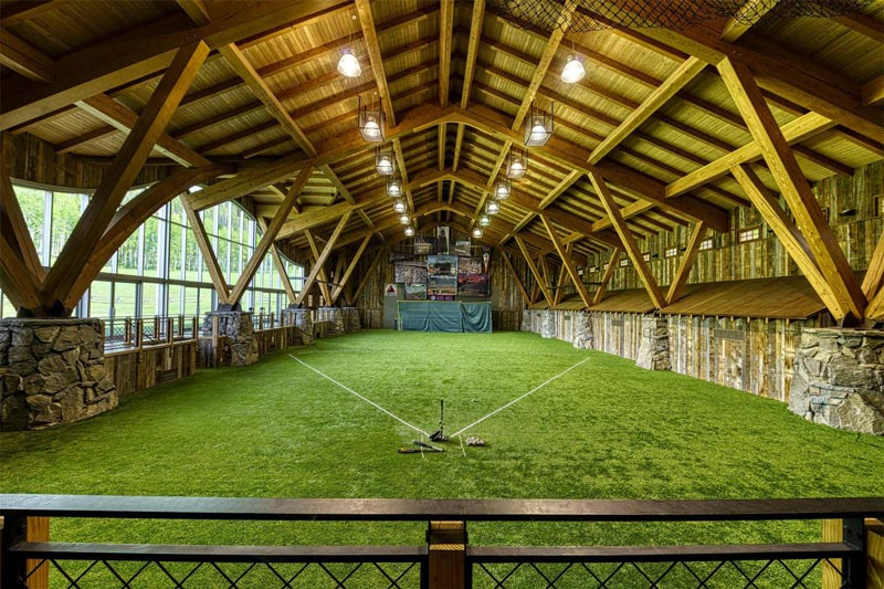 You'll also find a fully-stocked trout pond, shooting range, soccer field, indoor tennis and basketball court