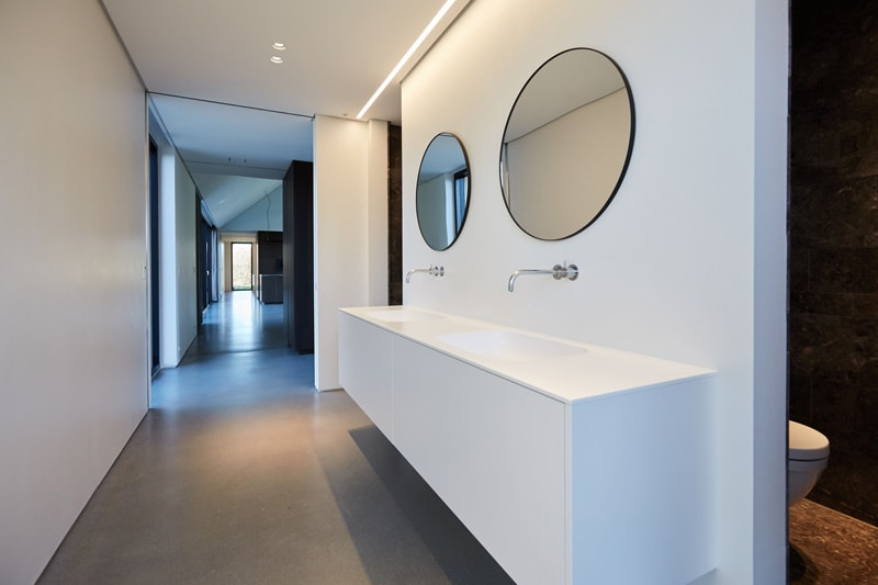 All floors are made of matte-polished concrete