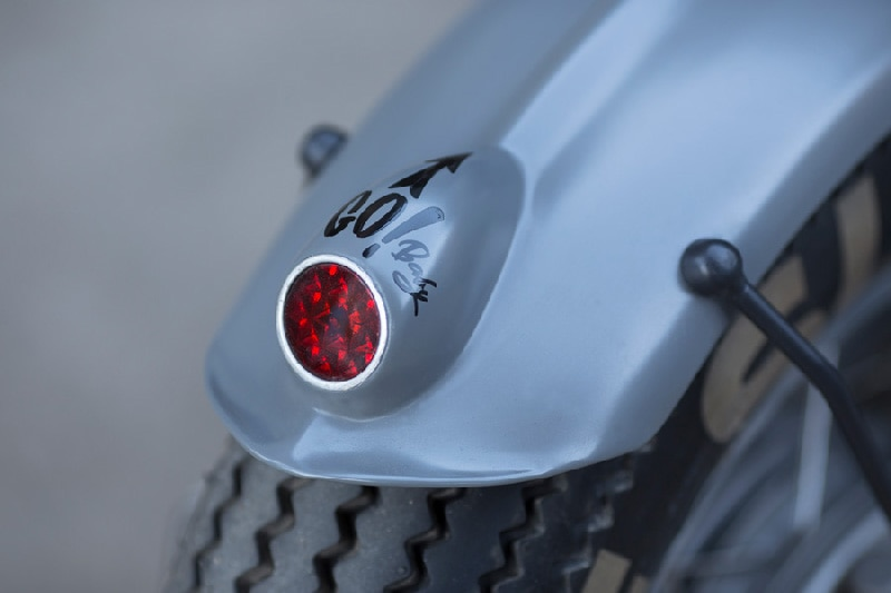 Ribbed fender with one-off mounting brackets and integrated LED taillight