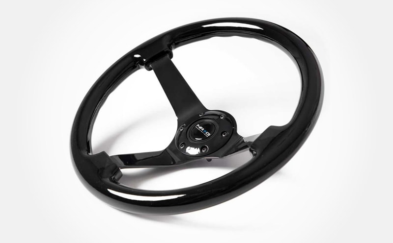 10 Best Aftermarket Steering Wheels For Your Classic Car NRG Innovations Classic Black Wood grain steering wheelX