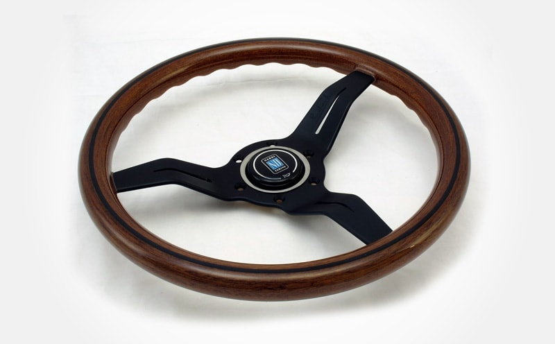 Nardi Classic Steering Wheel with wood and black spokes