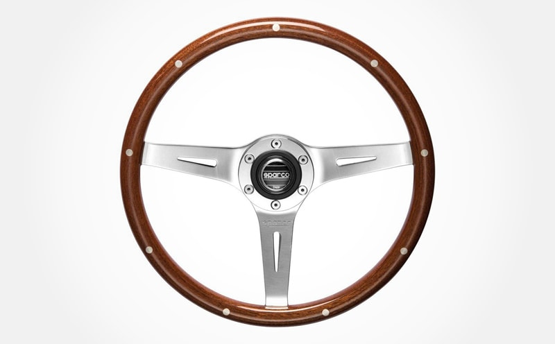 10 Best Aftermarket Steering Wheels For Your Classic Car Sparco Sanremo Steering wheel Mahogany wood